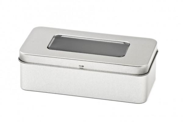Pudełko metalowe z okienkiem