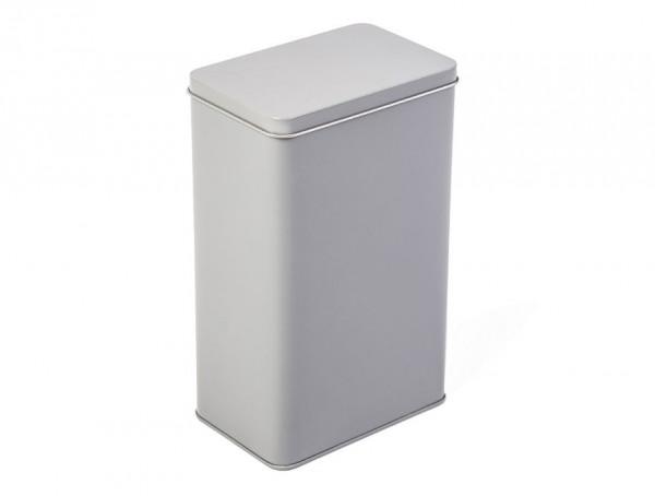 Prostokątne pionowe pudełko metalowe, szare