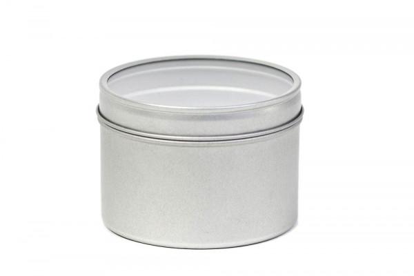 Okrągłe metalowe pudełko na suszone zioła