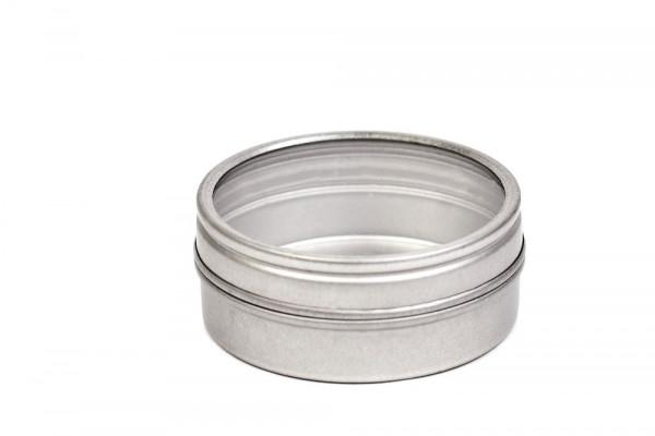 Okrągłe metalowe pudełko na przyprawy