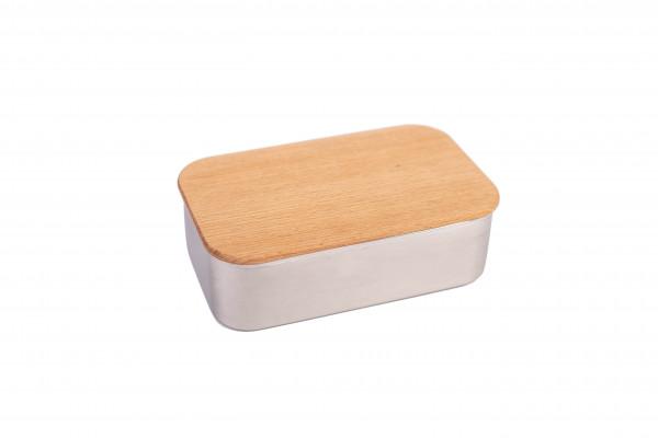 Lunch box z bukową pokrywką