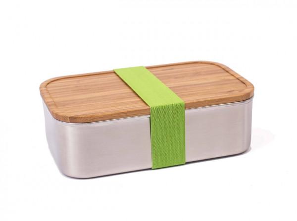 Edelstahllunchbox mit Bambusdeckel