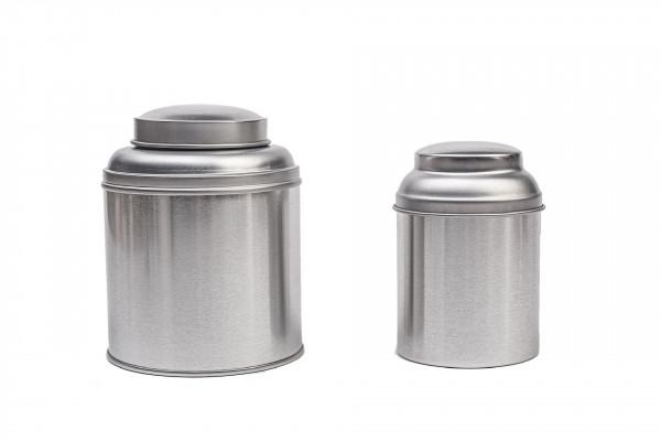Okrągłe puszki na herbatę z pokrywką chroniącą aromat przechowywanych produktów