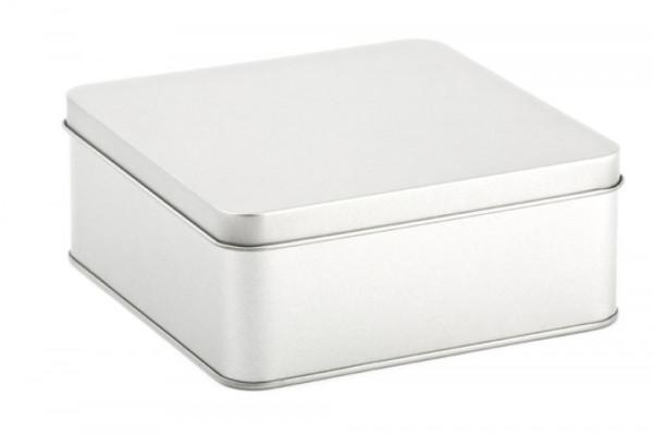 Pudełko metalowe, kwadratowe