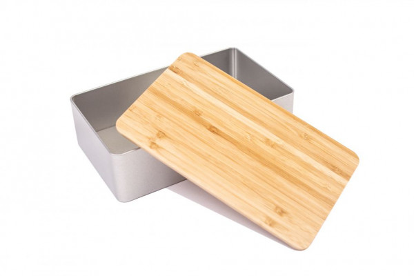 Pudełko na struclę z bambusową pokrywką